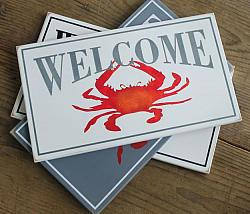 Welcome Sign with Crab