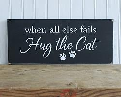 When all else fails...Hug the Cat